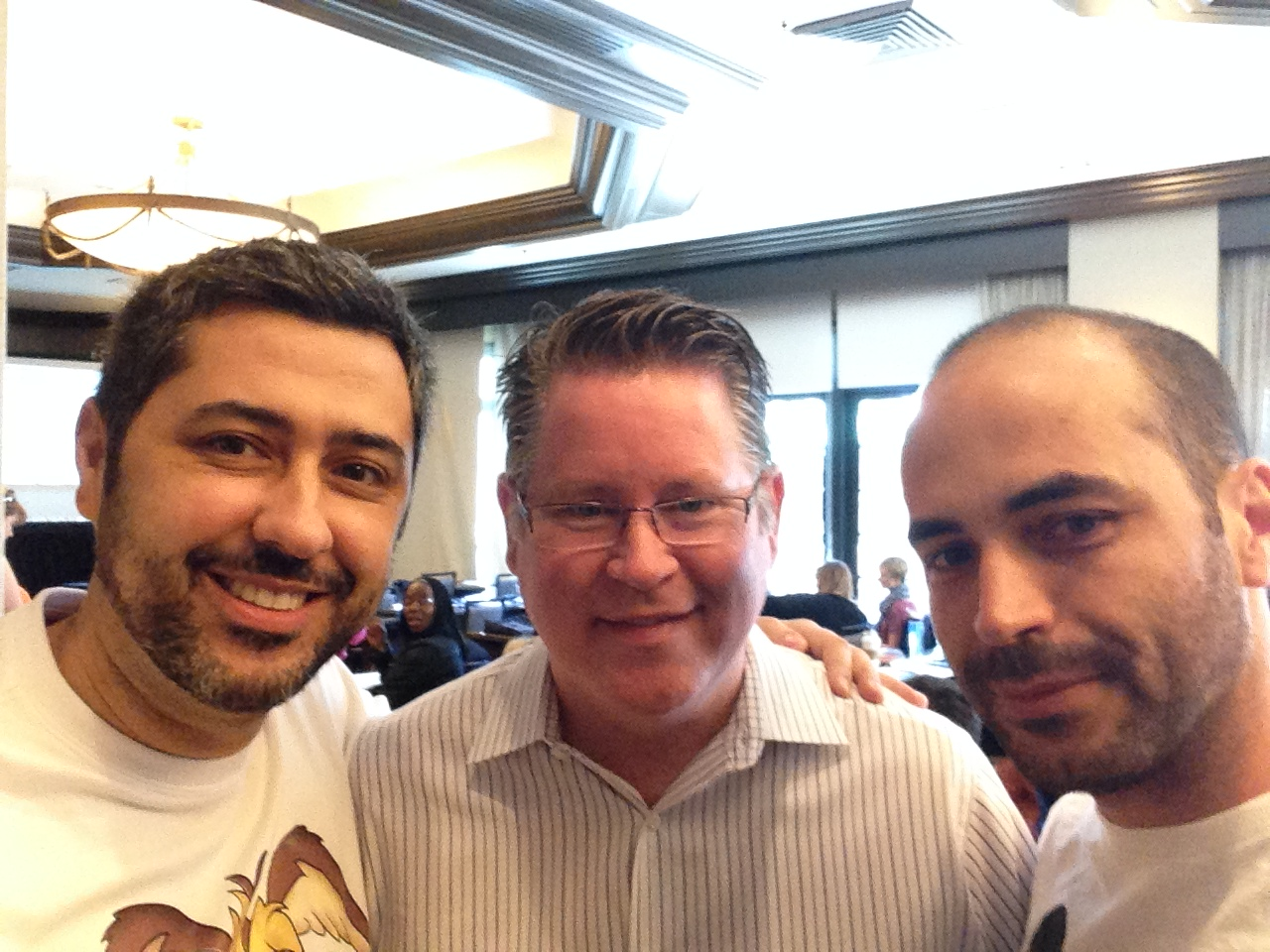Rafa, Jeffrey Skouson e Wagner Barbosa – IVACON 2014 – Los Angeles