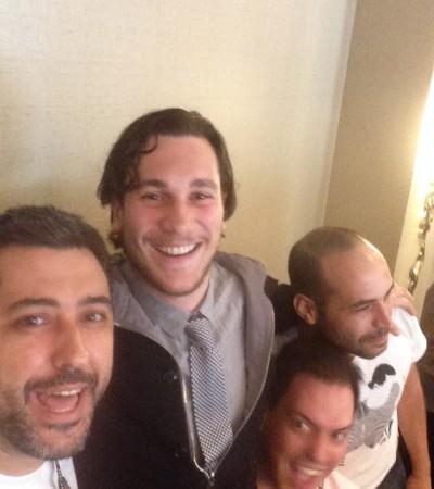 Rafa, Roberto, Justin e Wagner – IVACON 2014 – Los Angeles