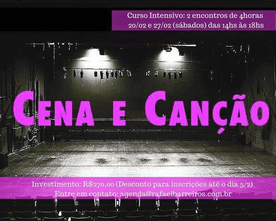 Curso de Férias: Cena e Canção em Fevereiro